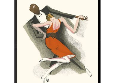 Poster - POSTER JAZZ DANCERS PAUL COLIN 30 x 45 cm - BILLPOSTERS