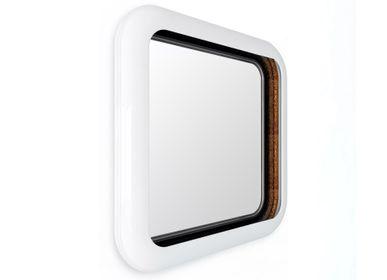 Miroirs - Anneau blanc carré miroir - BOCA DO LOBO