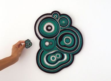Wall decoration - Giant Wall Embroidery - Slice of Malachite  - MACON & LESQUOY