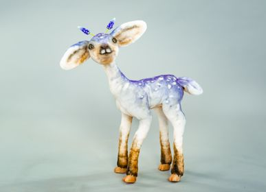 Christmas garlands and baubles -  Fantastic Muscari fawn Easter Deer. Eco friendly toy. Decoration toy sculpture. Faux taxidermy - KATERINA MAKOGON