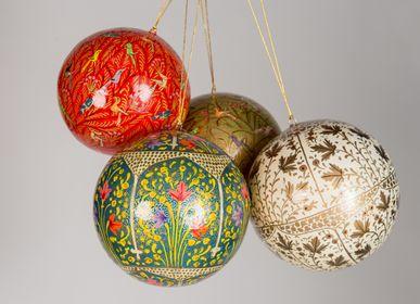 Décorations de Noël - DÉCORATION DE NOËL EN PAPIER MÂCHÉ - FAIT À LA MAIN AVEC AMOUR ET SOIN - PECHAAN