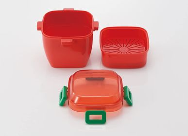 Children's mealtime - 4 POINT LOCK SALAD LUNCH BOX / COMBI BOX SET - THE SKATER CO.,LTD.