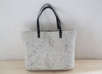 Bags / totes - Wool felt tote or basket - HL- HELOISE LEVIEUX