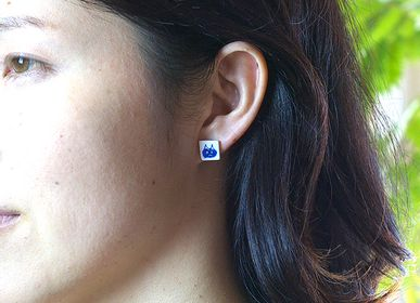 "Jewelry - TEGAKI ""NEKO""【Hand-drawn ""Cat""】Earrings - NANAYOSHA"