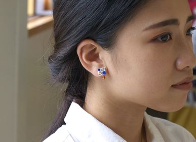 "Gifts - TEGAKI ""SUNAHAMA""【Hand-drawn ""Sandy Beach""】Earrings - NANAYOSHA"