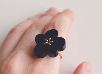 Bijoux - Bague Flower Ring / Onyx - NAM