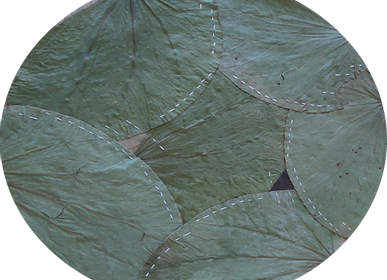 Formal plates - Set of 10 placemats made of Leafs (diametre 30cm) - ARECABIO