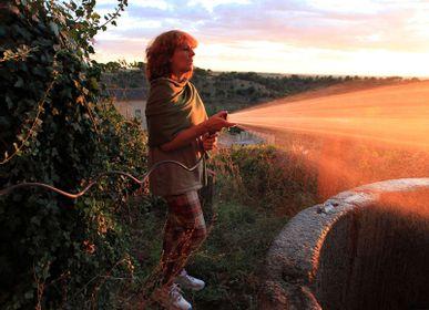 Foulards / écharpes - Écharpe 100% laine mérinos vert olive. - MONTÓN DE TRIGO MONTÓN DE PAJA