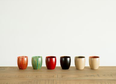 Art glass - tsubomi cup - HYAKUSHIKI