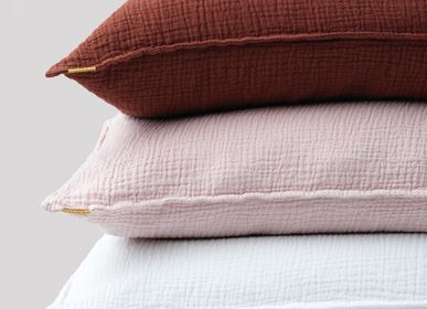 Cushions - LARGE CUSHION IN DOUBLE GAUZE COTTON - LES PENSIONNAIRES