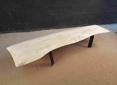 Assises pour bureau - banc en bois flotté - DECO-NATURE
