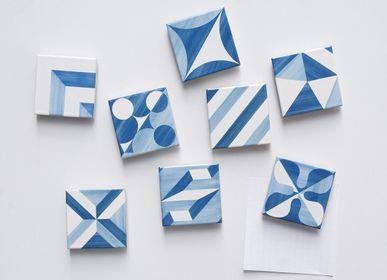 Decorative objects - Blue decor tile magnet  - METROCS