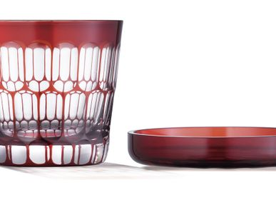 Chambres d'hôtels - Verre taillé Futachoko Edo Kiriko Kamaboko  - HIROTA GLASS MFG. CO., LTD.