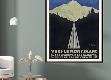 Poster - POSTER VERS LE MONT BLANC GEO DORIVAL AVAILABLE IN 2 FORMATS - BILLPOSTERS