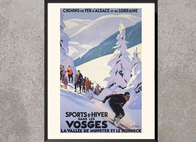 Poster - POSTER SPORT D'HIVER DANS LES VOSGES ROGER BRODERS AVAILABLE IN 40X50 CM - BILLPOSTERS