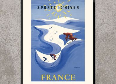 Poster - POSTER SPORTS D'HIVER FRANCE BERNARD VILLEMOT AVAILABLE IN 2 FORMATS - BILLPOSTERS