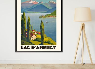 Affiches - AFFICHE LAC D'ANNECY ROGER BRODERS EXISTE EN 2 FORMATS - BILLPOSTERS