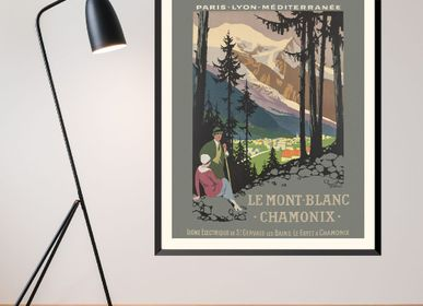 Poster - POSTER LE MONT BLANC CHAMONIX ROGER BRODERS AVAILABLE IN 2 FORMATS - BILLPOSTERS