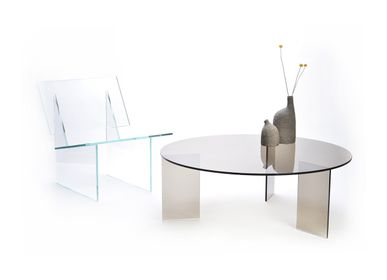 Tables basses - MONOLOG table ronde - GLASSVARIATIONS