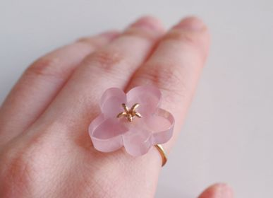 Bijoux - Bague Flower Ring / Rose Quartz - NAM