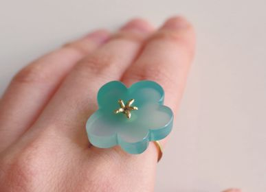 Bijoux - Bague Flower Ring / Green Agate - NAM