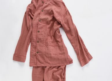 Vêtements de nuit - Kyo Wazarashi Mensya Pyjama de gaze teinte aux herbes - DAITOU SHINGU