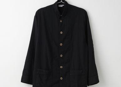 Homeweartextile - Pyjama Kyo Wazarashi Mensya en gaze teintée en noir - DAITOU SHINGU
