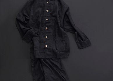 Sleapwear - Kyo Wazarashi Mensya Black-Dyed Gauze Pajamas  - DAITOU SHINGU