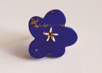 Jewelry - K18 Flower Ring / Lapis Lazuli - NAM
