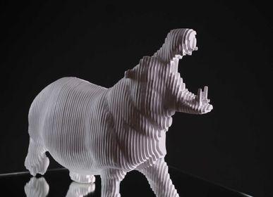 Sculptures, statuettes et miniatures - Sculpture L'Hippopotame - MICHEL AUDIARD