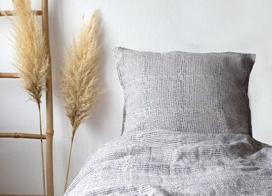 Bed linens - Ecorce Printed Washed Linen Duvet Cover 240 x 220 cm - CONSTELLE HOME