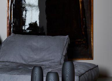 Vases - FLUSSO Ash Black  Medio - MUGEN MUSOU BY IWATA