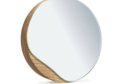 Mirrors - Table mirror  PUDDLE | oak wood or black - NAMUOS