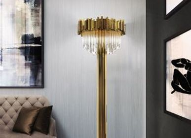 Office design and planning - Empire Floor Lamp  - COVET HOUSE