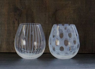 "Chambres d'hôtels - Karai-opale verre ""Polka dots"" - HIROTA GLASS MFG. CO., LTD."