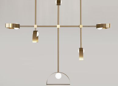 Decorative objects - SPHERE AND CUT CIRCLE – PENDANT LIGHT - SQUARE IN CIRCLE STUDIO