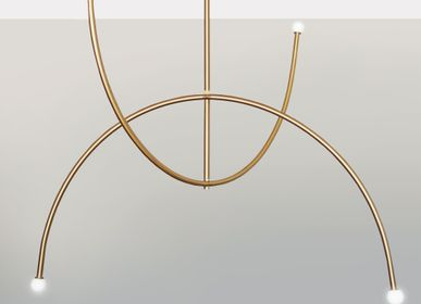 Chambres d'hotels - DOUBLE ARCH – PENDANT LIGHT - SQUARE IN CIRCLE STUDIO
