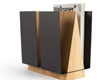 Work stations - Magazine rack WINGS | green, grey, black - NAMUOS