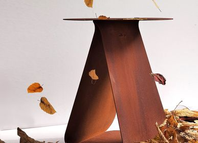 Design objects - Round symetrical side table YOUMY - corten steel - MADEMOISELLE JO