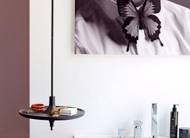 Objets design - Vide-poche étagère TOUPY - frêne lasuré noir - métal noir - MADEMOISELLE JO