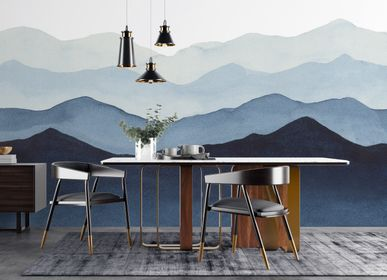 Other wall decoration - Blue Mountains - Panoramic wallpaper - LA TOUCHE ORIGINALE