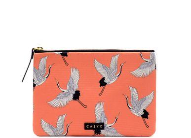 Clutches - Grande Pochette : Coral Cranes - CASYX
