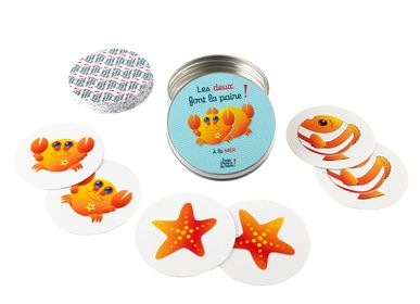 "Children's games - ""Both make the pair"" - Mémory - Washable and tear-proof card game - J'VAIS L'DIRE À MA MÈRE !"