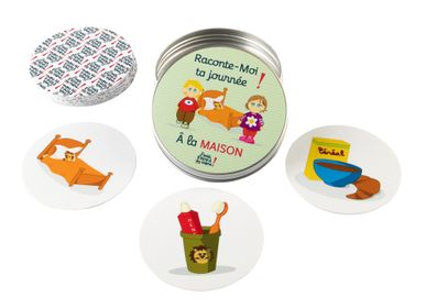 Children's games - Tell me your day at school or at home - Nomad cards, washable and tear resistant cards - Washable cards - J'VAIS L'DIRE À MA MÈRE !