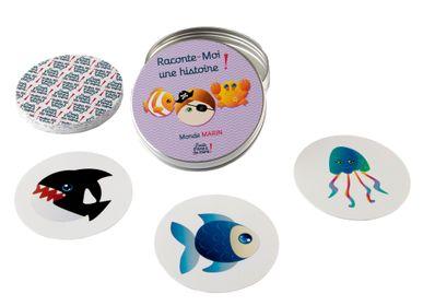 Jeux enfants -   Jeu de cartes lavable et indéchirable - 4 thèmes différents - Dans la Savane, Ferme, Animaux, Prince et Princesse, Animaux - J'VAIS L'DIRE À MA MÈRE !