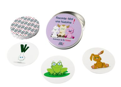Children's games - Tell me a story - Washable and tear-proof card game - 4 different themes - In the Savannah, Farm, Animals, Prince and Princess, Animals - J'VAIS L'DIRE À MA MÈRE !