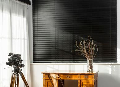 Curtains / window coverings - JASNO BLINDS - Custom wooden venetian blind in front of all bays, doors and windows. - JASNO