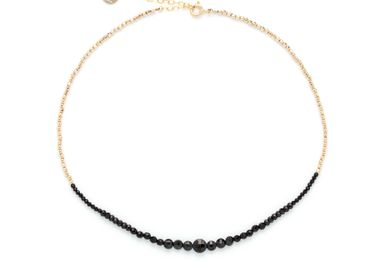 Bijoux - Collier queen bicolore - spinelle noire - YAY PARIS