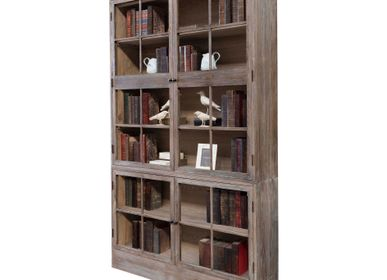 Shelves - WOODEN SHOECASE 24 GLASSES - BECARA