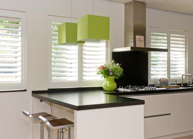 Curtains and window coverings - JASNO SHUTTERS - interior shutter with adjustable shutters in the kitchen - JASNO